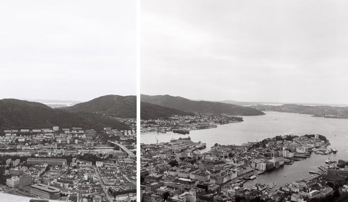 sur les hauteurs de la ville