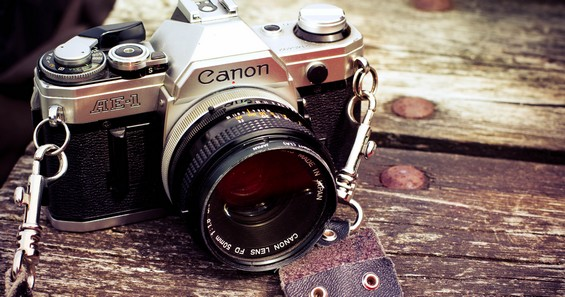 old camera, Canon AE-1