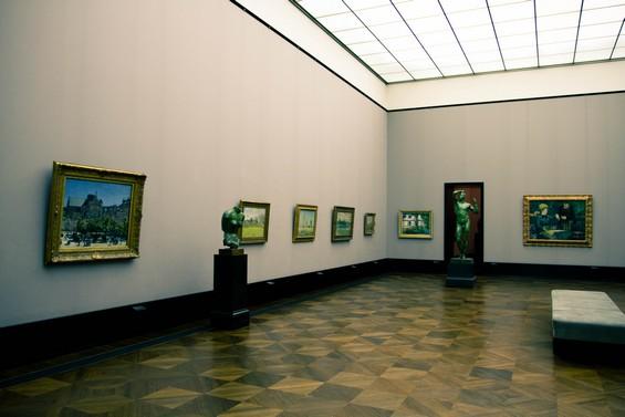 vue intérieure salle de tableaux