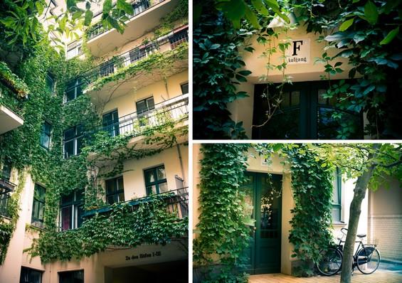 Vue intérieure, devanture immeubles