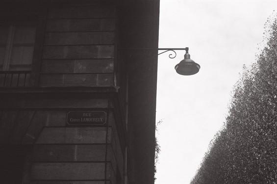 vieux lampadaire de ville