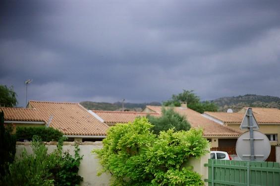 paysage avant l'orage