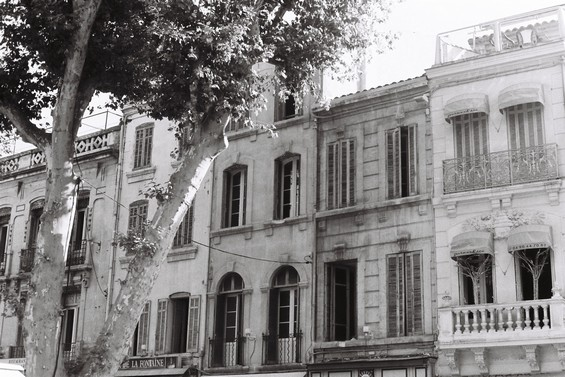 Facade des vieux immeubles