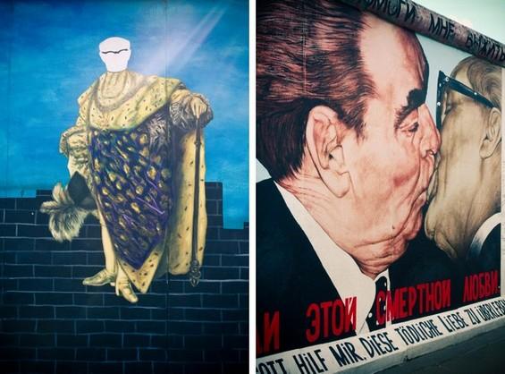 Baiser fraternel socialiste de Honecker et Brejnev