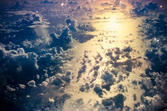 Les nuages vu du ciel