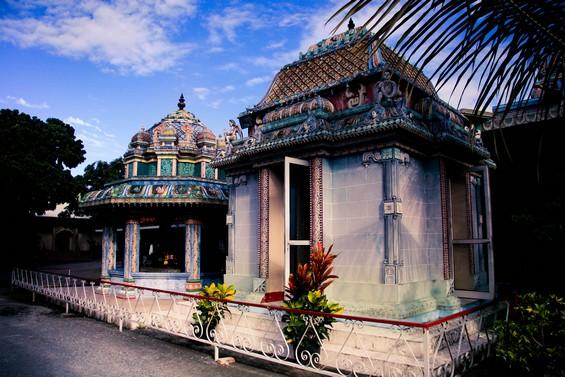 Vue de petites pièces du Temple
