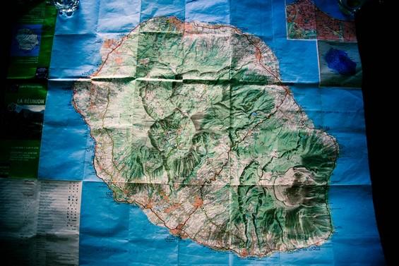 carte de l'île et des trois cirques