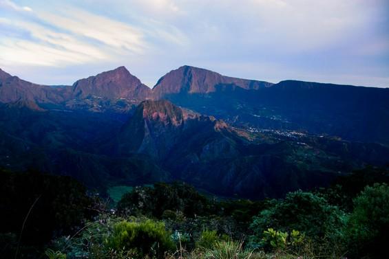 vue de la vallée au petit matin.