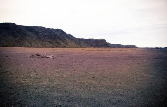 sur le désert lunaire.