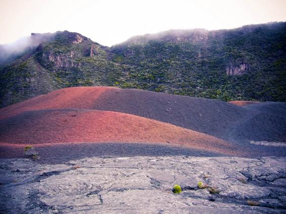 sur les roches volcaniques