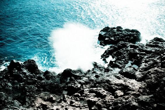 entre roche et eau