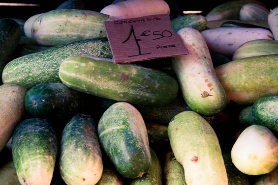 Etales de légumes