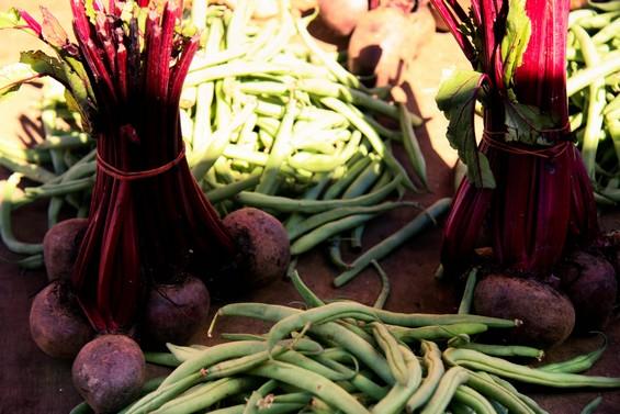 Etale de légumes