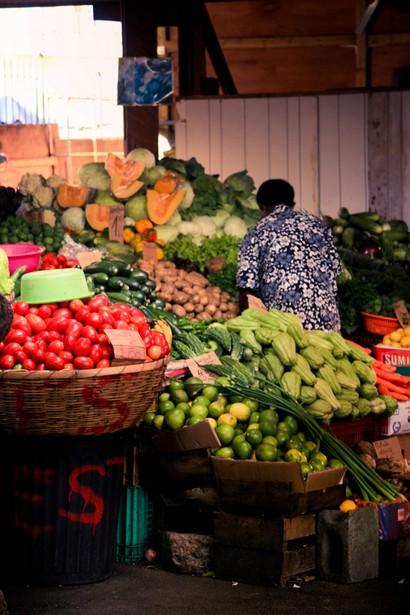 étales de légumes