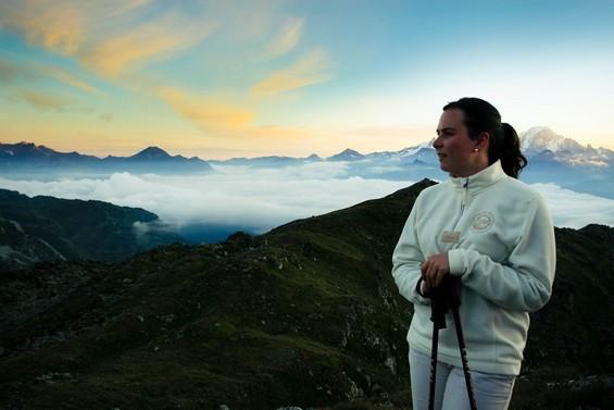 randonnée matinale pour une vue sur le Mont Blanc