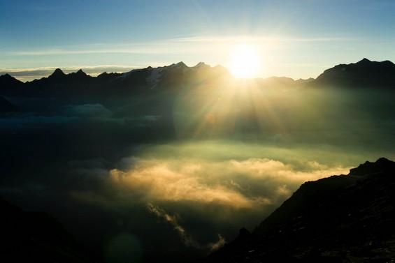 le Mont Blanc rayonnant
