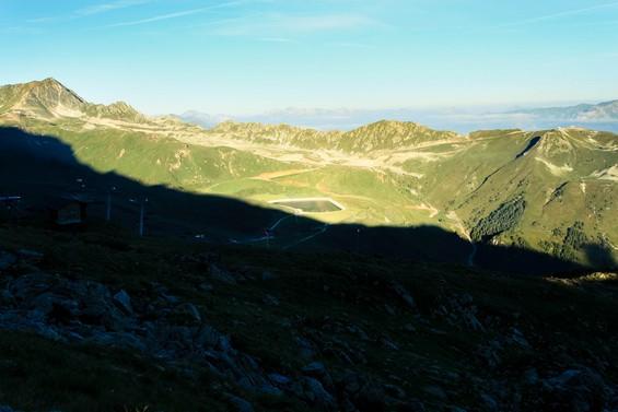 vue de la vallée au petit matin