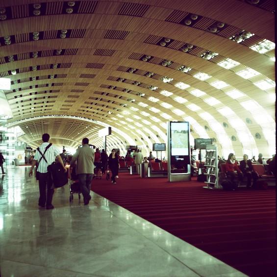 Dans le Hall de l'aéroport