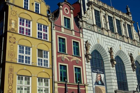 Façade colorées le long de la Długa