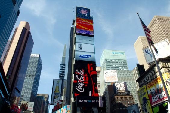 La folie de Times Square