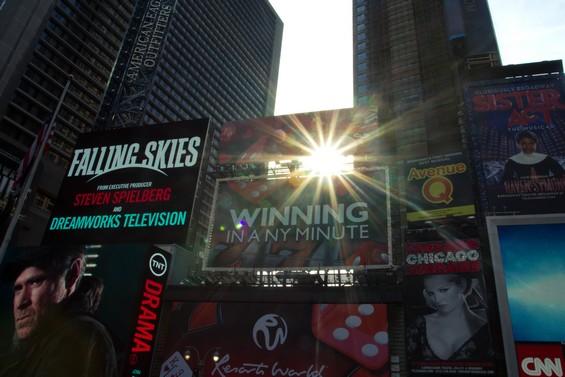 Les innombrables panneaux de Times Square