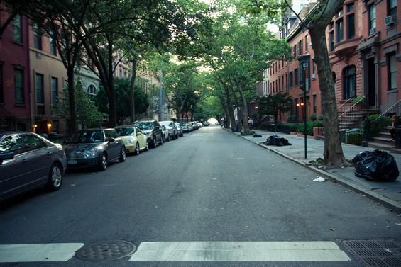 Rues pavillonaires de la ville