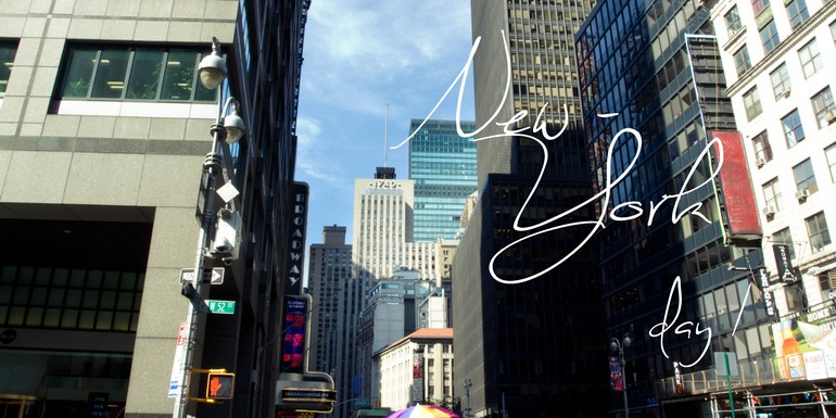 To New-York with… Le folklore de Times Square, la discrétion de Central Park & le soleil couchant de Brooklyn. – #Day I