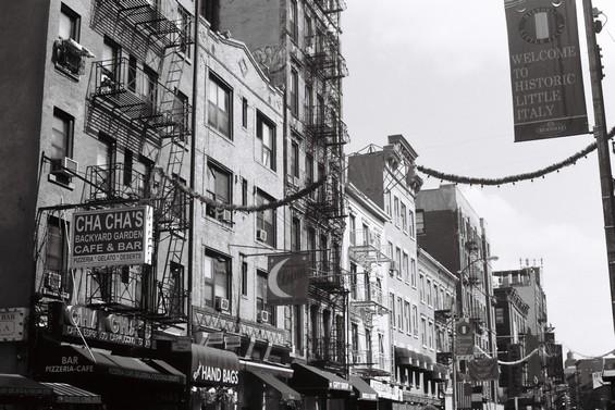 vue des façades d'immeuble