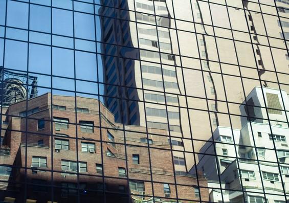 Les reflets des buildings
