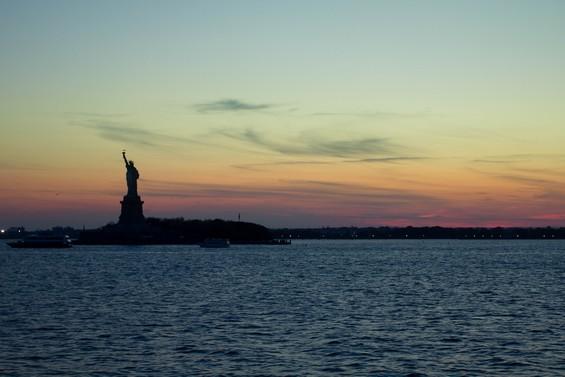 Sur les flots pour Staten Island.
