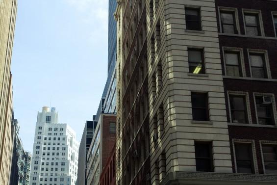 Jeux de lumière sur les buildings