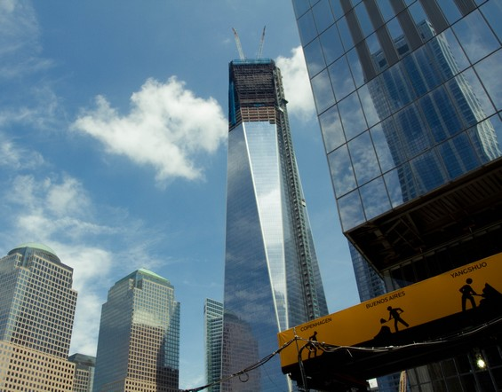 Travaux de la nouvelle tour de verre