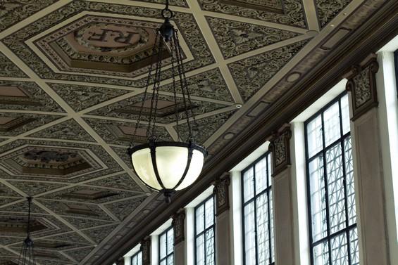 Vue du plafond intérieur