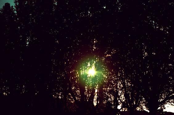 phénomène lumineux, paysage à Bordeaux.