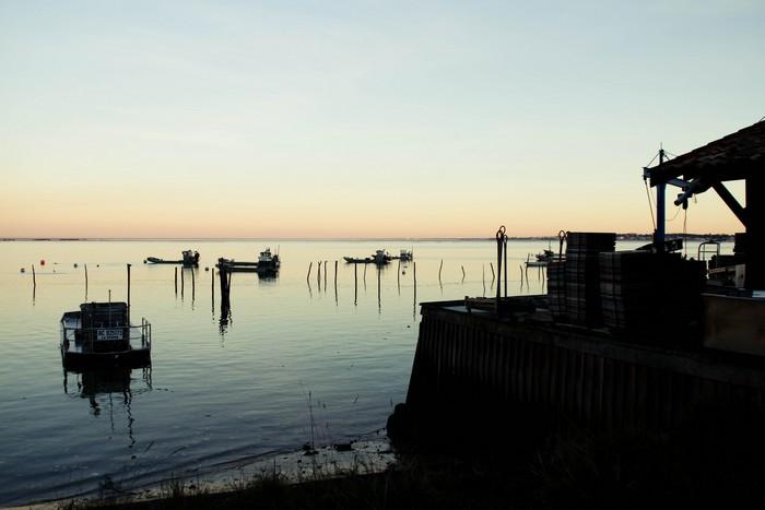 Le Cap Ferret, coucher de soleil