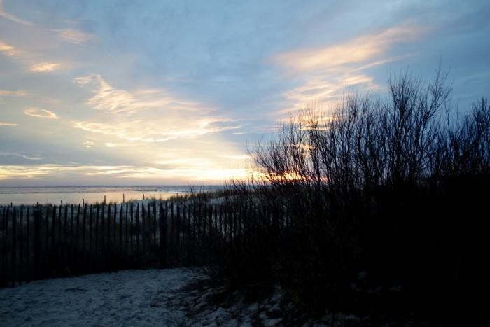 Le Cap Ferret, coucher de soleil sur l'océan