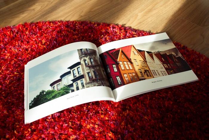 Aperçu d'une page du livre photographique
