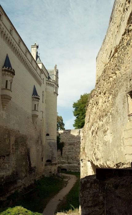 Les douves du chateau de Brézé