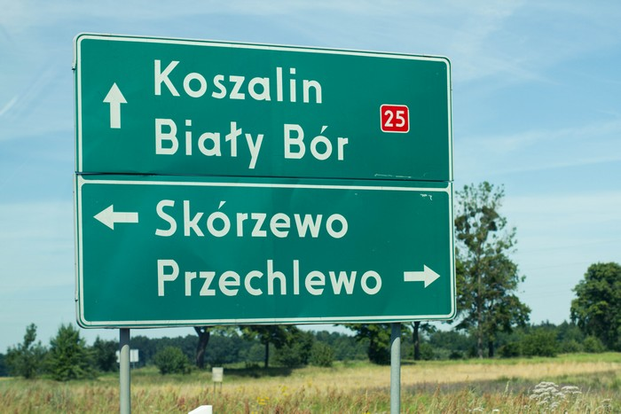 On the road to Koszalin