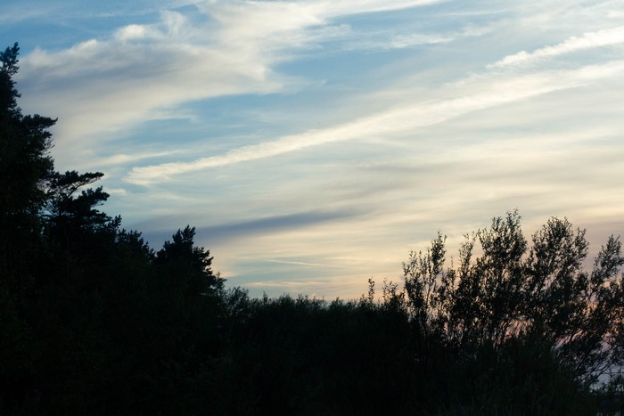coucher de soleil à Łeba