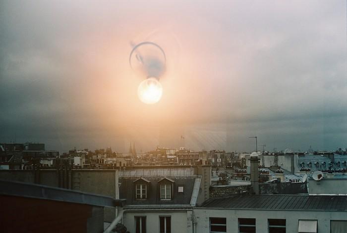 Double exposition argentique sur Paris