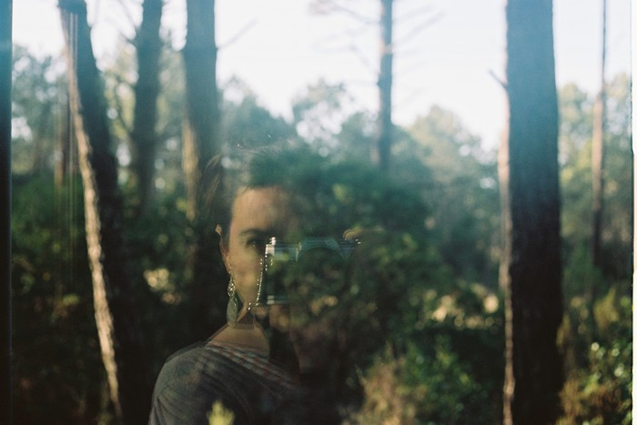 Reflective portraits in the forest