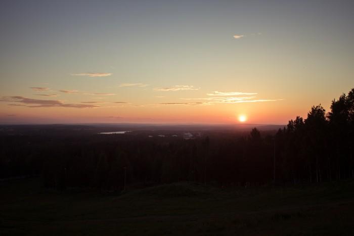 Suede, midnight sun in Luleå