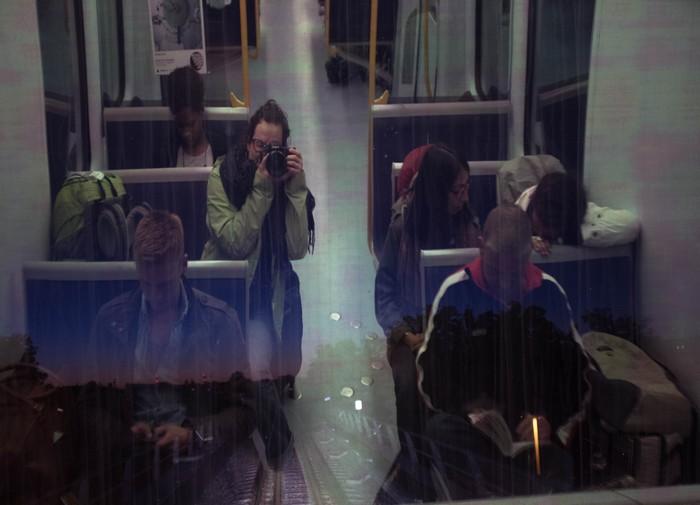 Copenhague, reflective portrait