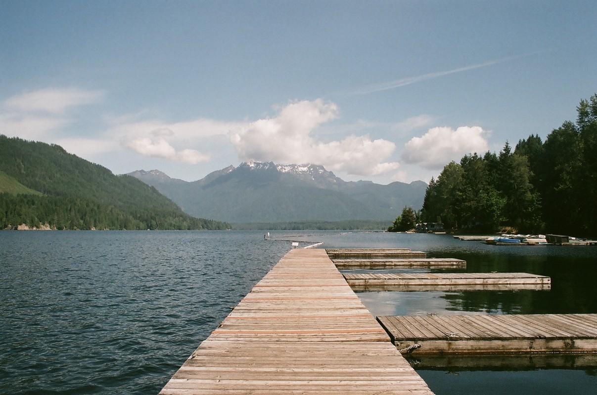 Pacific Northwest : Postcard from Lake Cushman !