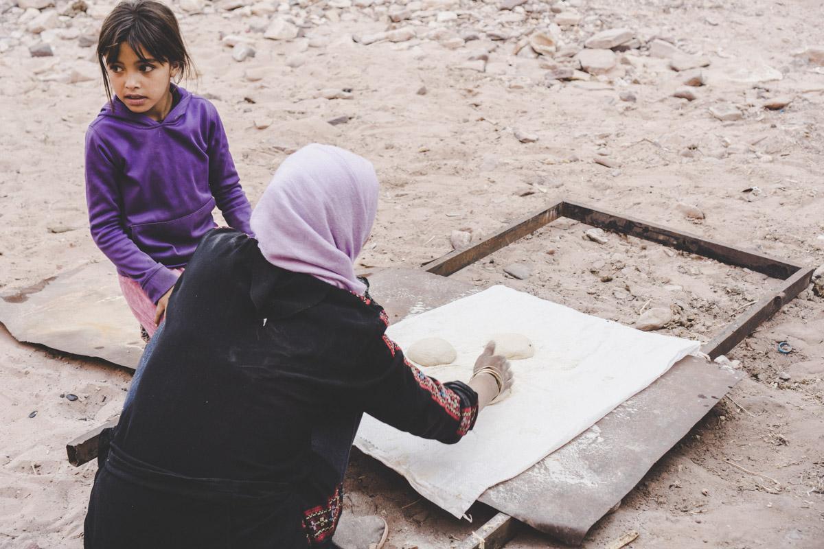 Petra la cité rose, pain khobz