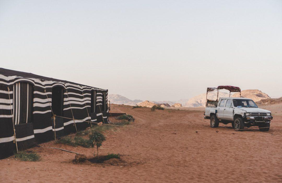Dormir en tente avec les Bédouins du Wadi Rum.