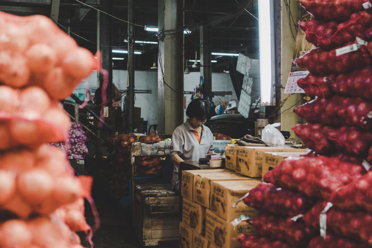 2 jours à Bangkok, Pak Khlong Talat : le marché aux fleurs.