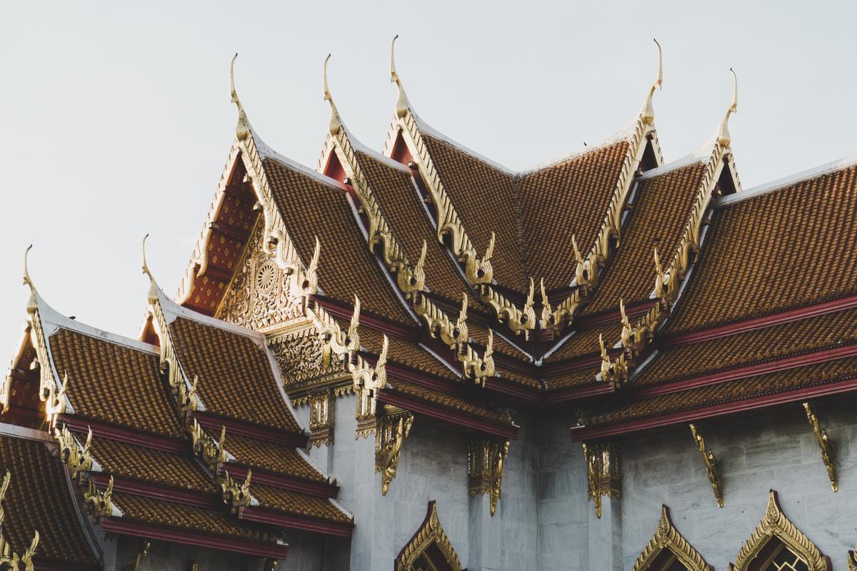 2 jours à Bangkok, Wat Benchamabophit : Temple de marbre