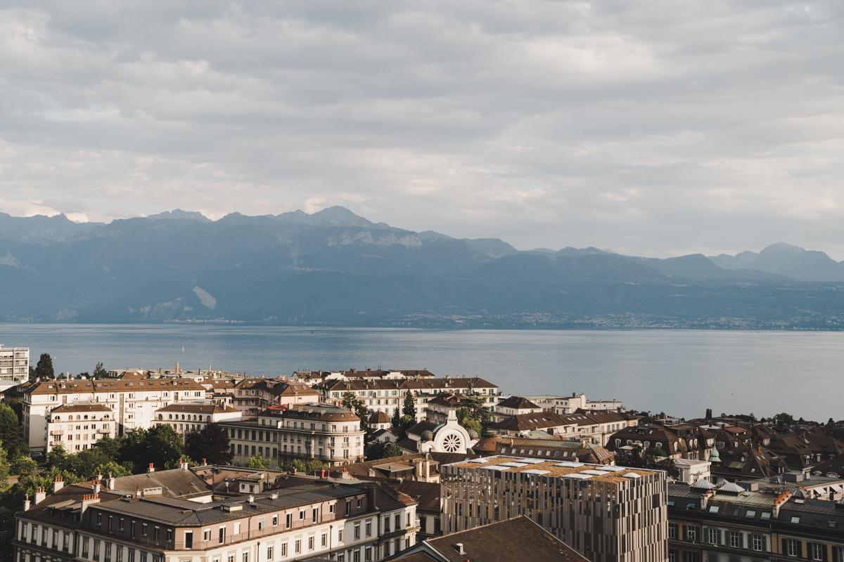 Un week-end à Lausanne, lac Léman